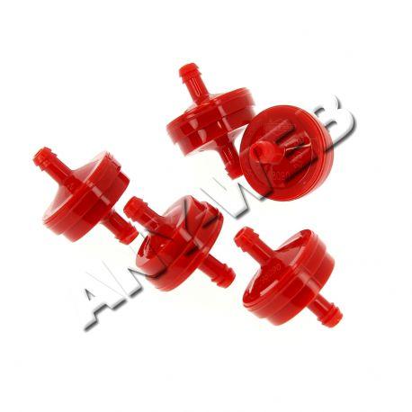 004105 - Filtre à essence rouge 150 microns pour moteur Briggs