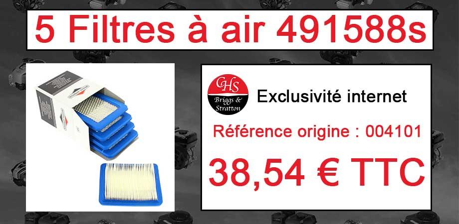 5 Filtres à air 491588s